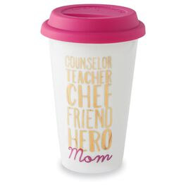 Mud Pie® Words for Mom Travel Mug With Lid, 10 oz., , large
