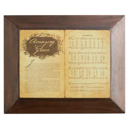 DaySpring Amazing Grace Story and Hymn Wall Decor, 16x13, , large