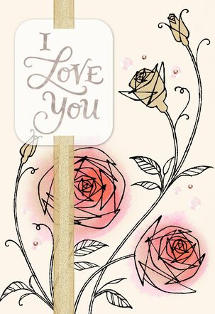 Roses I Love You Anniversary Card