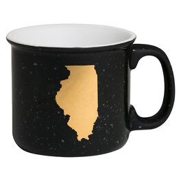 Illinois State Silhouette Mug, 13.5 oz., , large