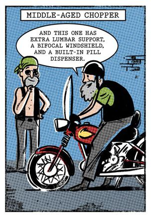 Middle-Aged Chopper Funny Birthday Card