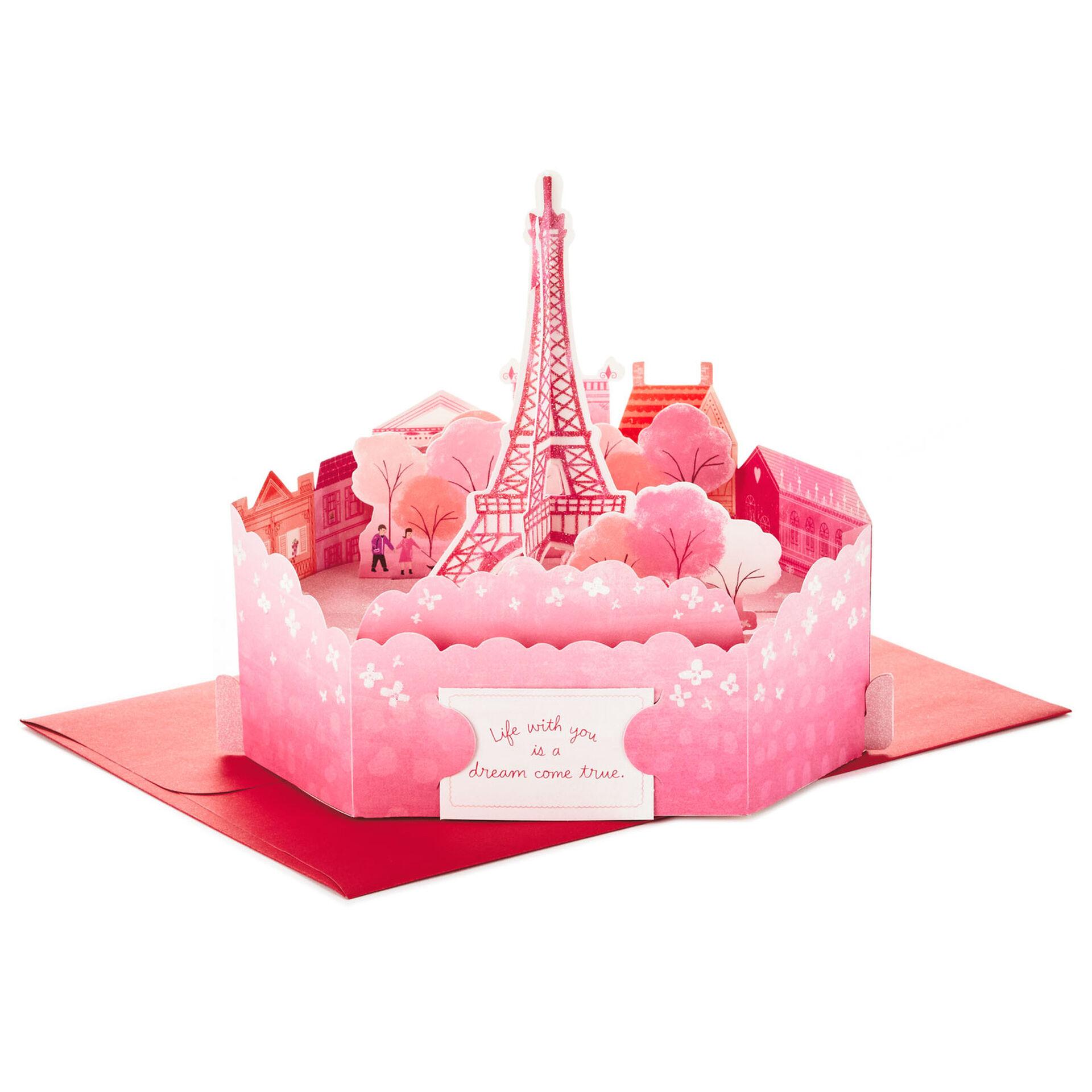 Details about  /Creative 3D romance Paris Eifflel greeting cards metropolis multi layered cards
