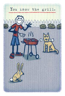 Life is Good® You Know the Grill Father's Day Card,