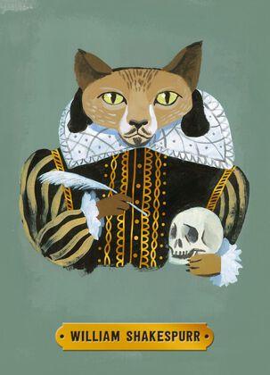 William Shakespeare Cat Birthday Card