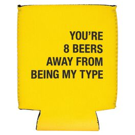 About Face 8 Beers Away From Being My Type Koozie, , large