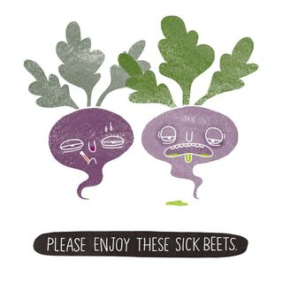 Sick Beets Funny Get Well Card,
