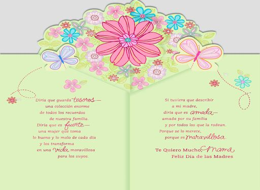 To Describe Mom Pop Up Spanish-Language Mother's Day Card,
