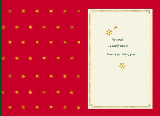 Nice List Material Christmas Card,