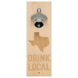 Texas Silhouette Wall Mount Beer Bottle Opener, , large