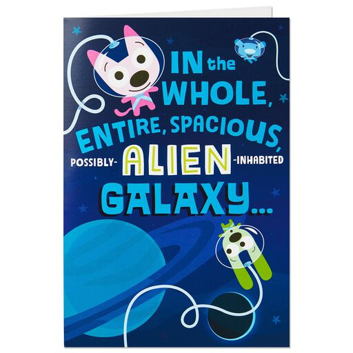 HoopsyoyoTM Space Travelers Birthday Card With Lights And Sound