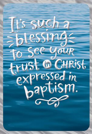 Waves on the Water Baptism Card