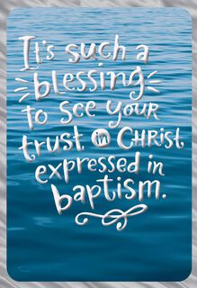Waves on the Water Baptism Card,