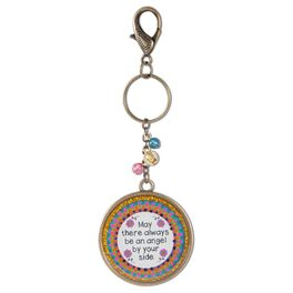 Natural Life Key Chain Angel by Your Side Glitter Resin, , large