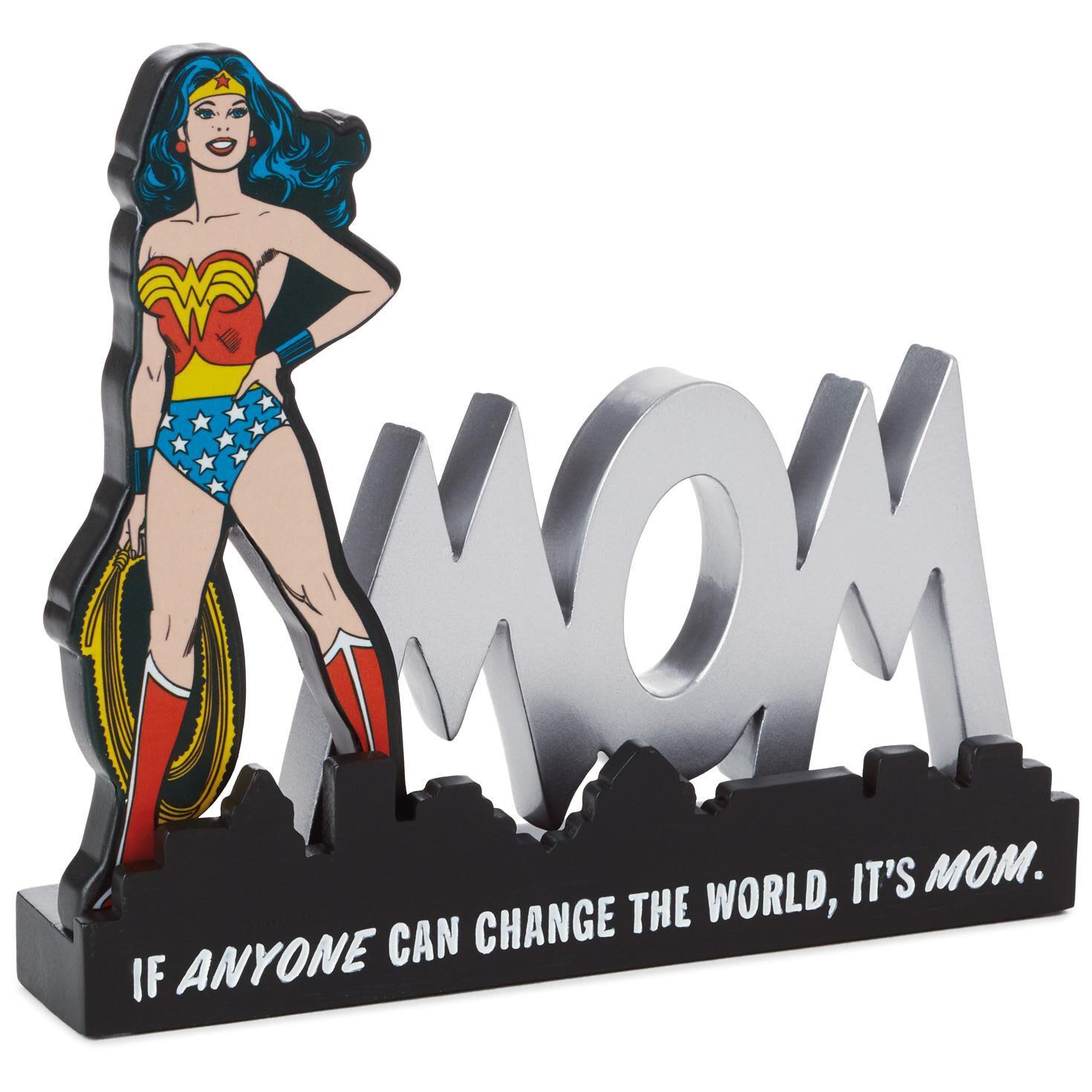 Wonder Woman Mom E Sign Desk Accessory Decorative Accessories Hallmark