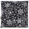"Sit a Spell Spiderweb Print Decorative Pillow, 14"""