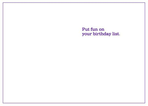 Wine-Filled Bucket List Funny Birthday Card,
