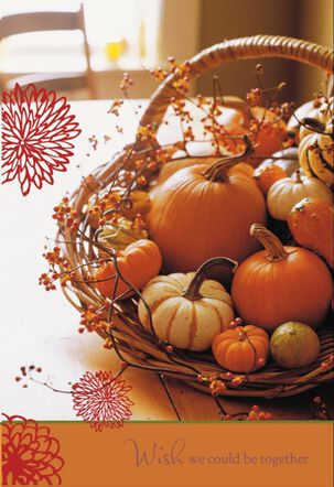 Fall Harvest Basket Thanksgiving Card