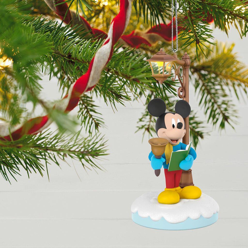 Disney Christmas Carolers Merry Mickey Musical Ornament With Light ...