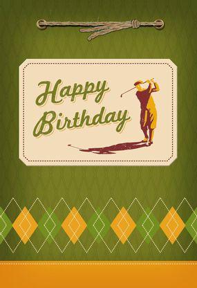 Above Par Golfer Birthday Card