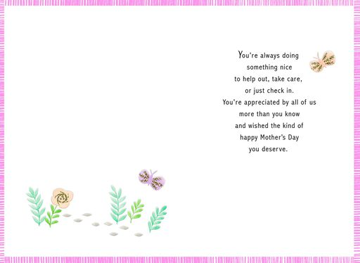 Floral Family Tree Grandma Mother's Day Card From Us,