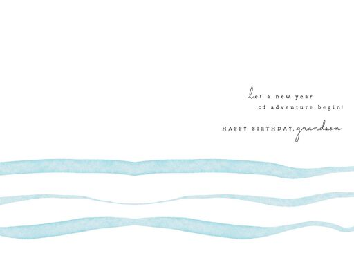 Sailboat On Water Birthday Card For Grandson