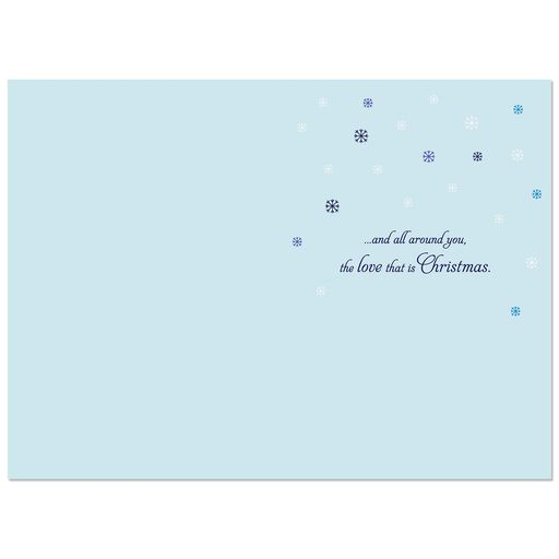 peace and contentment snowflake christmas card