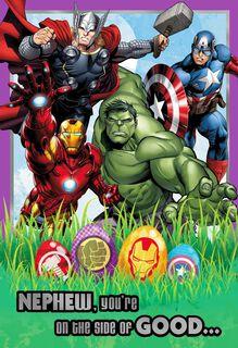 Avengers Easter Card for Nephew,