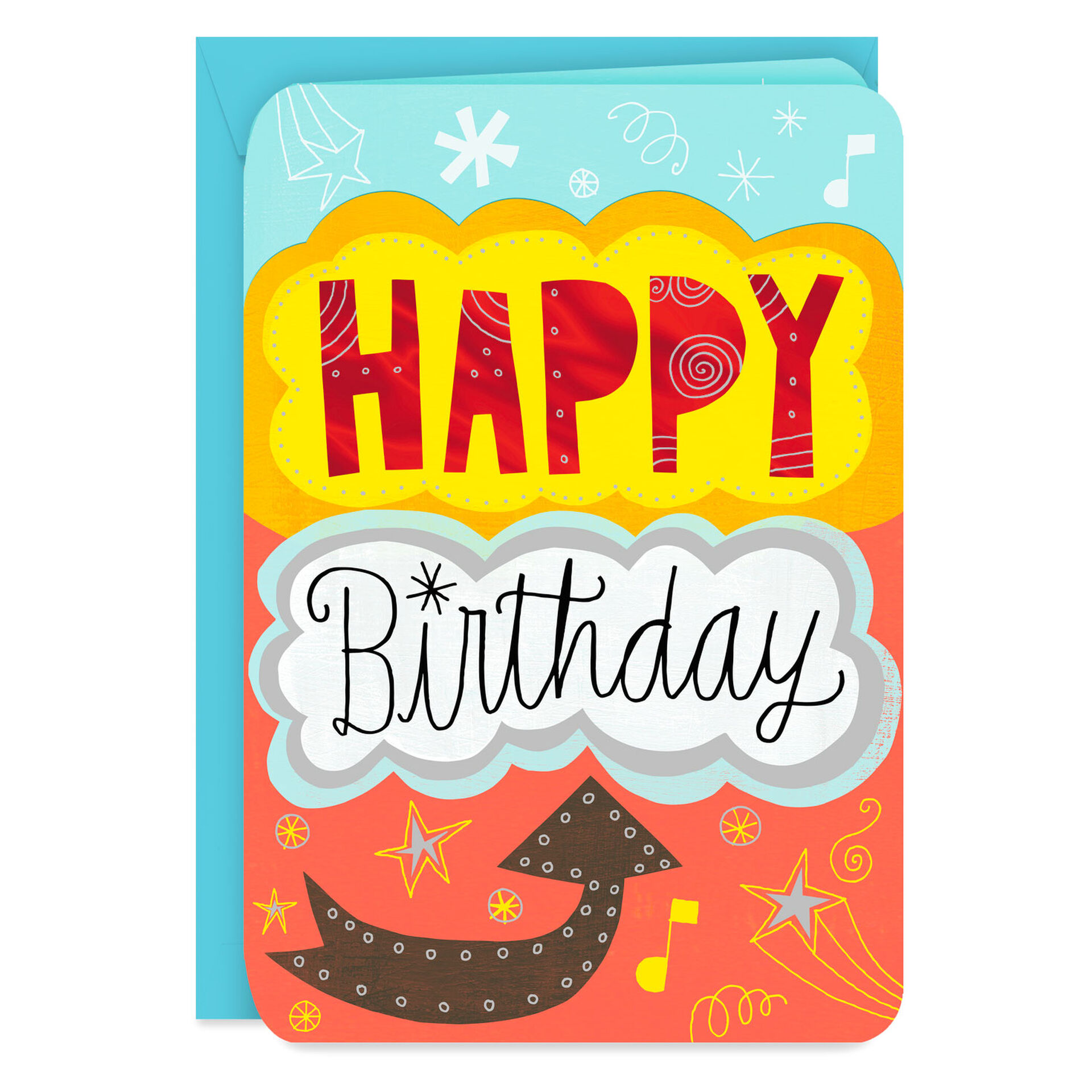 """From All of Us Jumbo Birthday Card, 8"""""""
