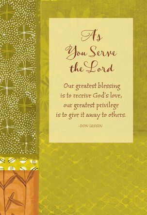 Faithful Ways Religious Clergy Appreciation Card