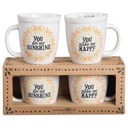 Natural Life You Are My Sunshine 15 oz. Mugs, Set of 2, , large
