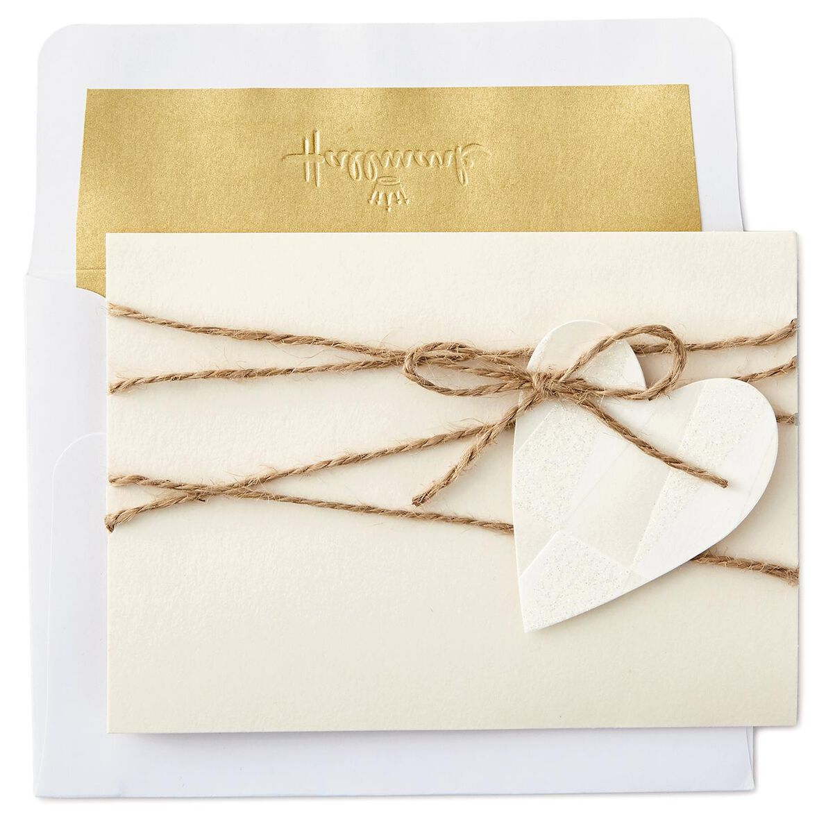 Heart and Twine Blank Cards, Box of 8 - Note Cards - Hallmark