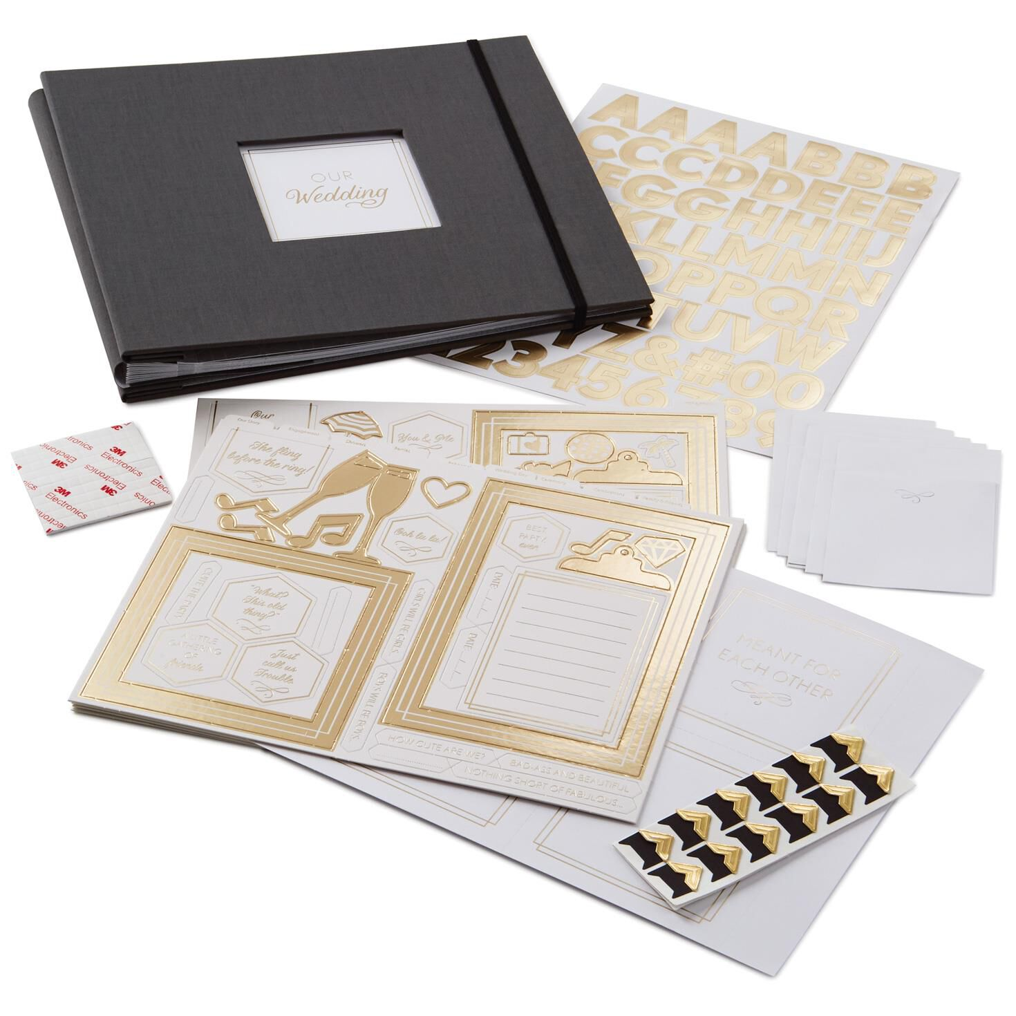 Wedding Black And Gold Scrapbook Kit Scrapbooks Hallmark