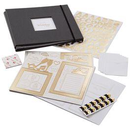 Wedding Black and Gold Scrapbook Kit, , large