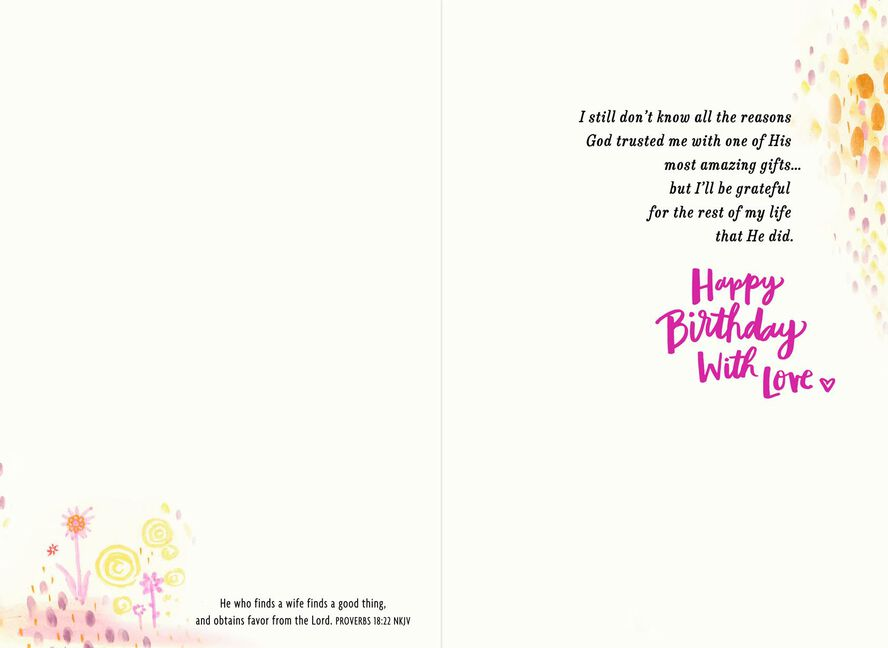Grateful Husband Religious Birthday Card For Wife Greeting Cards