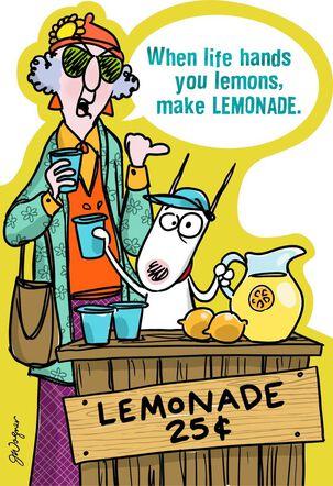 Life's Lemons Funny Encouragement Card