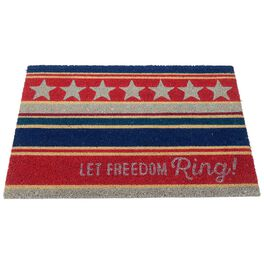 Let Freedom Ring Patriotic Coir Door Mat, , large