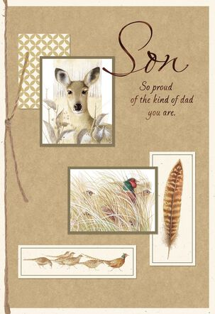 Marjolein Bastin Pheasant and Deer Father's Day Card for Son