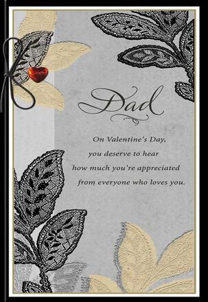 Glad You're My Dad Valentine's Day Card