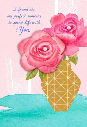Lucky Guy Flower Vase Romantic Mother's Day Card