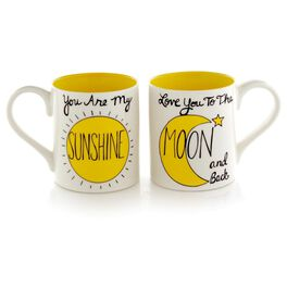 Our Name is Mud Sun and Moon 12 oz. Mugs, Set of 2, , large