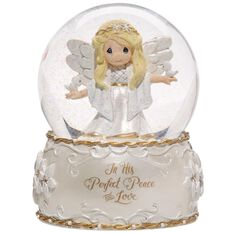 Precious Moments 174 Peace And Love Musical Snow Globe 7th