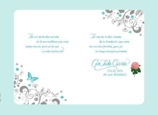 You're a Wonderful Mom Spanish-Language Mother's Day Card for Sister,