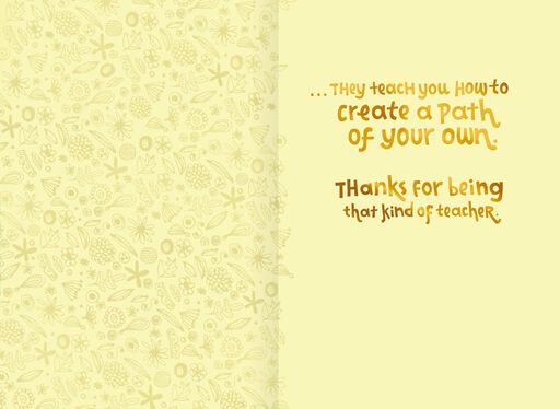 Create Your Own Path Teacher Appreciation Card,