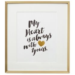 My Heart With Yours Framed Print Large