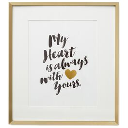 My Heart With Yours Framed Print, , large