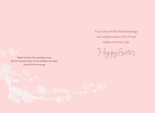 Spring Blossoms Religious Easter Card for Daughter,