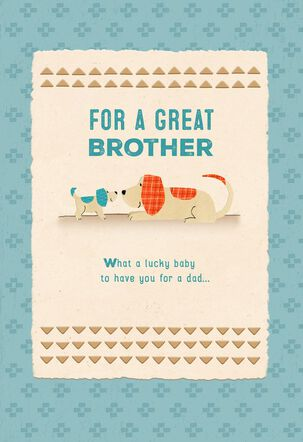 Lucky Baby Lucky Family Brother's First Father's Day Card