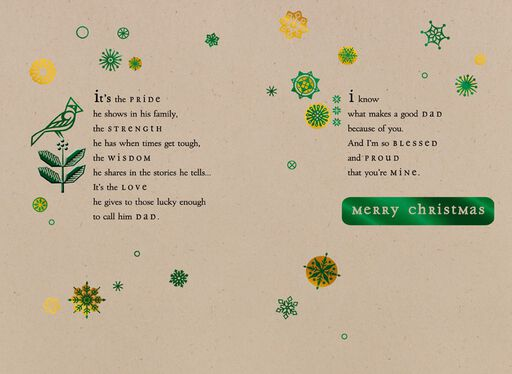 Good Dad Christmas Card,