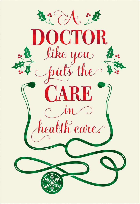 Stethoscope Christmas Card For Doctor Greeting Cards Hallmark