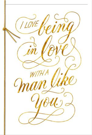 A Man Like You Anniversary Card for Him